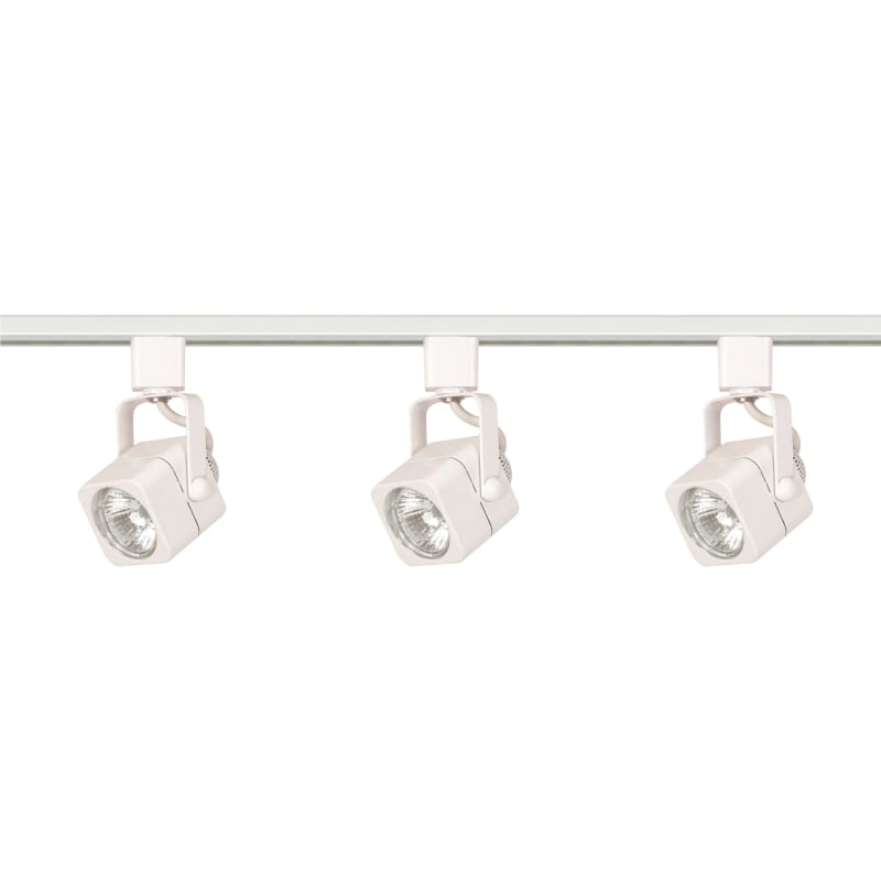 Nuvo Lighting TK345 Three Light MR16 Square 120V Track Kit White