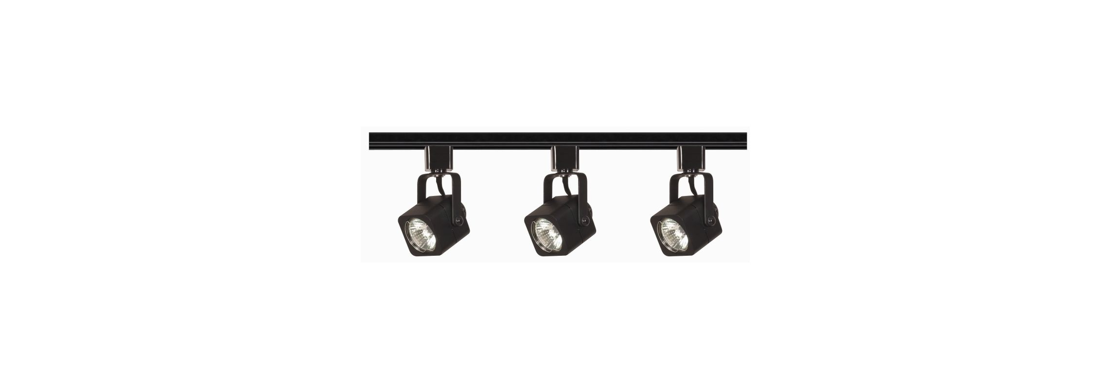 Nuvo Lighting TK346 Three Light MR16 Square 120V Track Kit Black