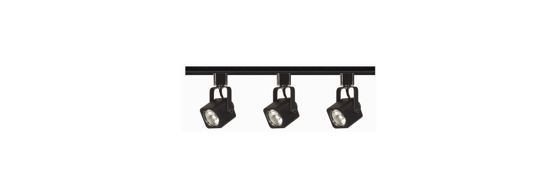 Nuvo Lighting TK346 Three Light MR16 Square 120V Track Kit Black