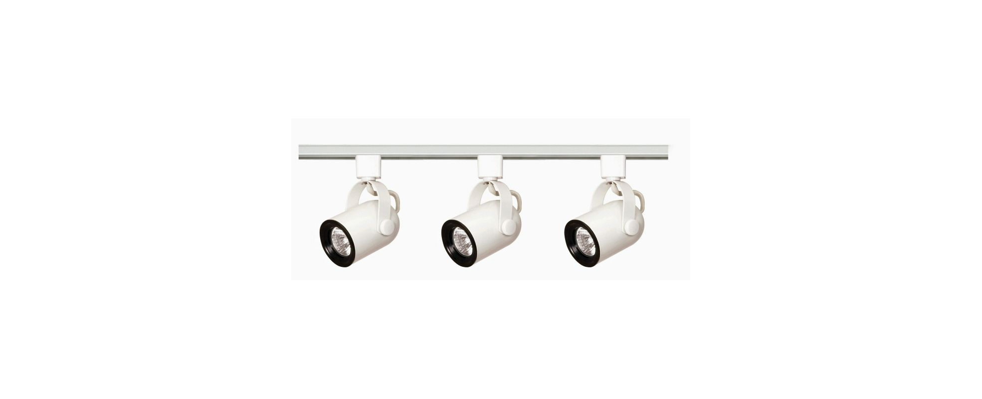 Nuvo Lighting TK348 Three Light MR16 Round Back 120V Track Kit White
