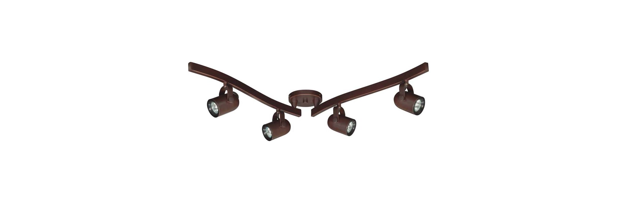 Nuvo Lighting TK383 Four Light MR16 Halogen Swivel Track Kit Russet