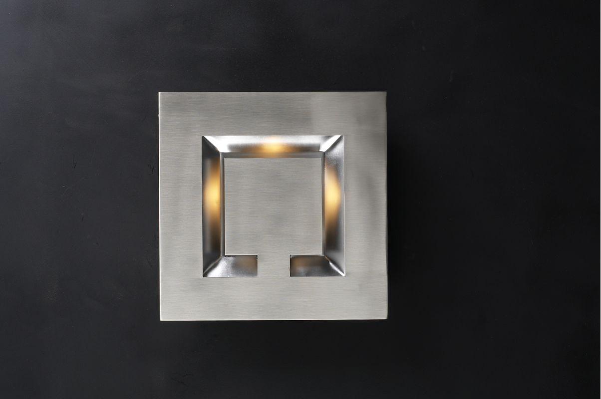 PLC Lighting 2330 SN Satin Nickel Contemporary Sumatra Wall Sconce