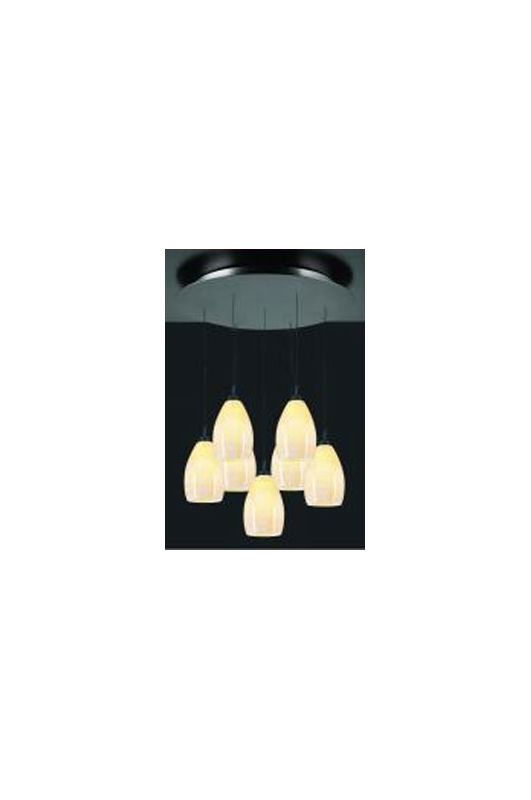 PLC Lighting 2867 ORB Oil Rubbed Bronze Contemporary Daisy Pendant