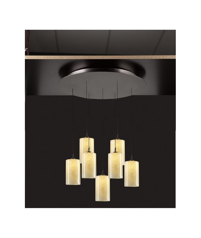 PLC Lighting 2887 ORB Oil Rubbed Bronze Contemporary Cylindro Pendant