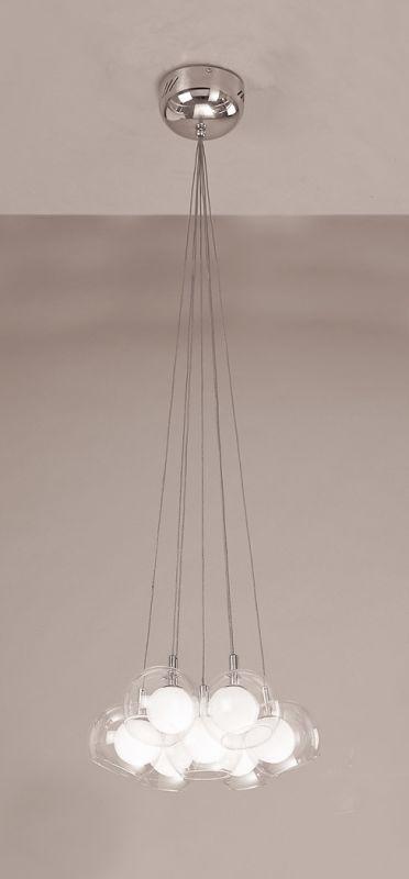 PLC Lighting 86614 SN Satin Nickel Contemporary Hydrogen Chandelier