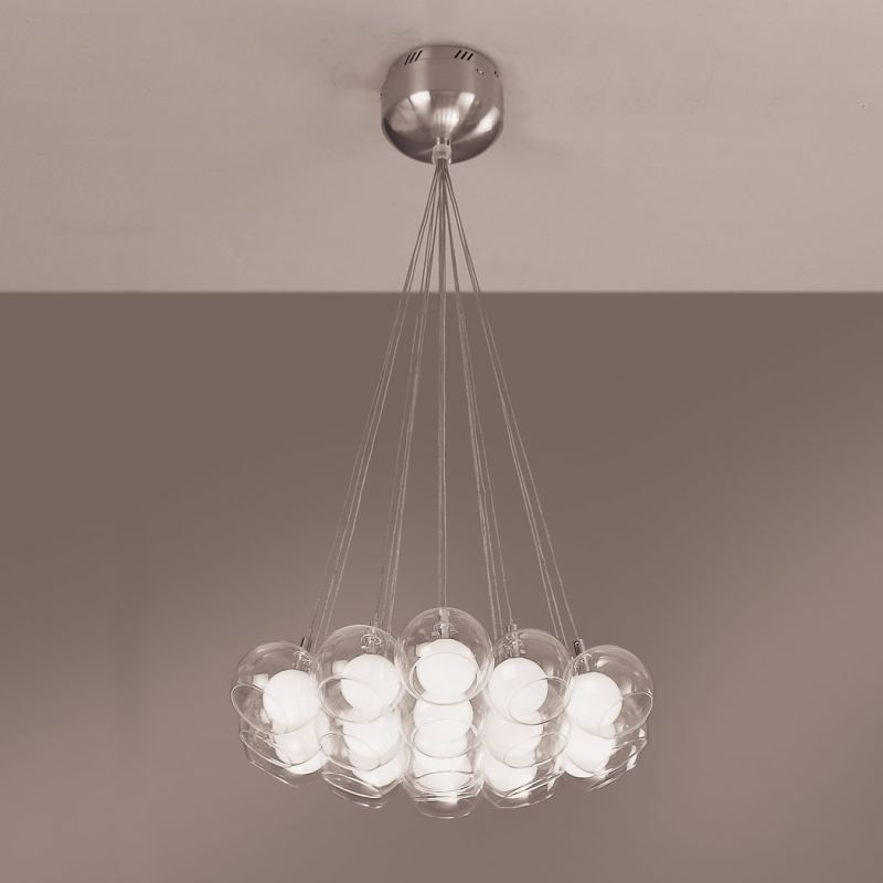PLC Lighting 86620 SN Satin Nickel Contemporary Hydrogen Chandelier Sale $596.00 ITEM: bci362689 ID#:86620 SN UPC: 83964505417 :