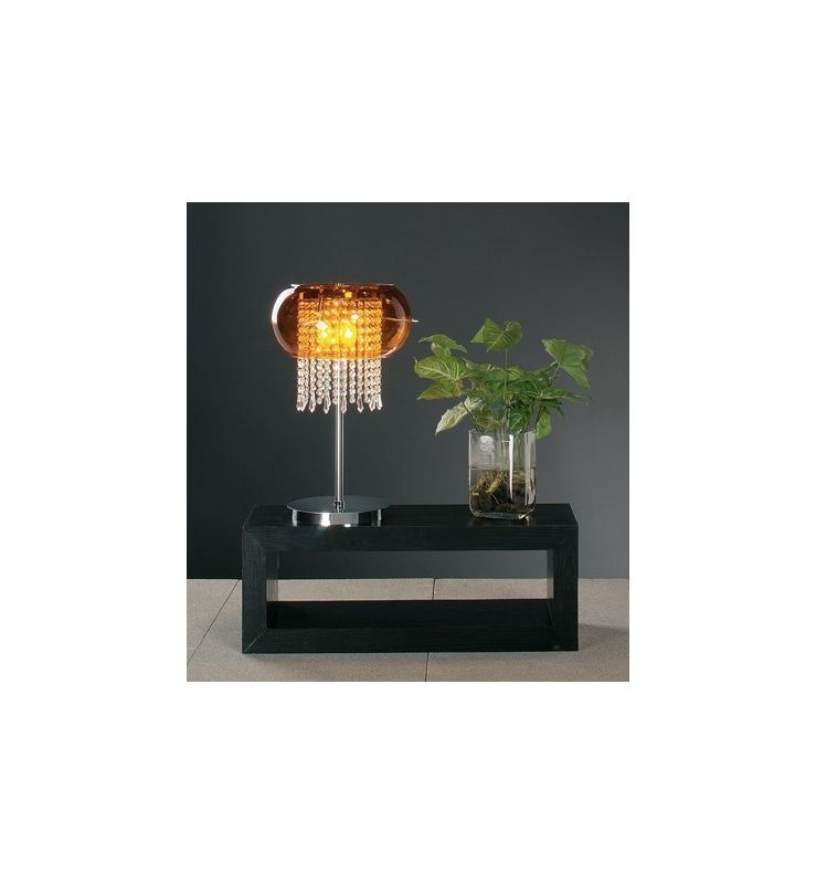 PLC Lighting PLC 87730 Crystal Table Lamp from the Poem Collection