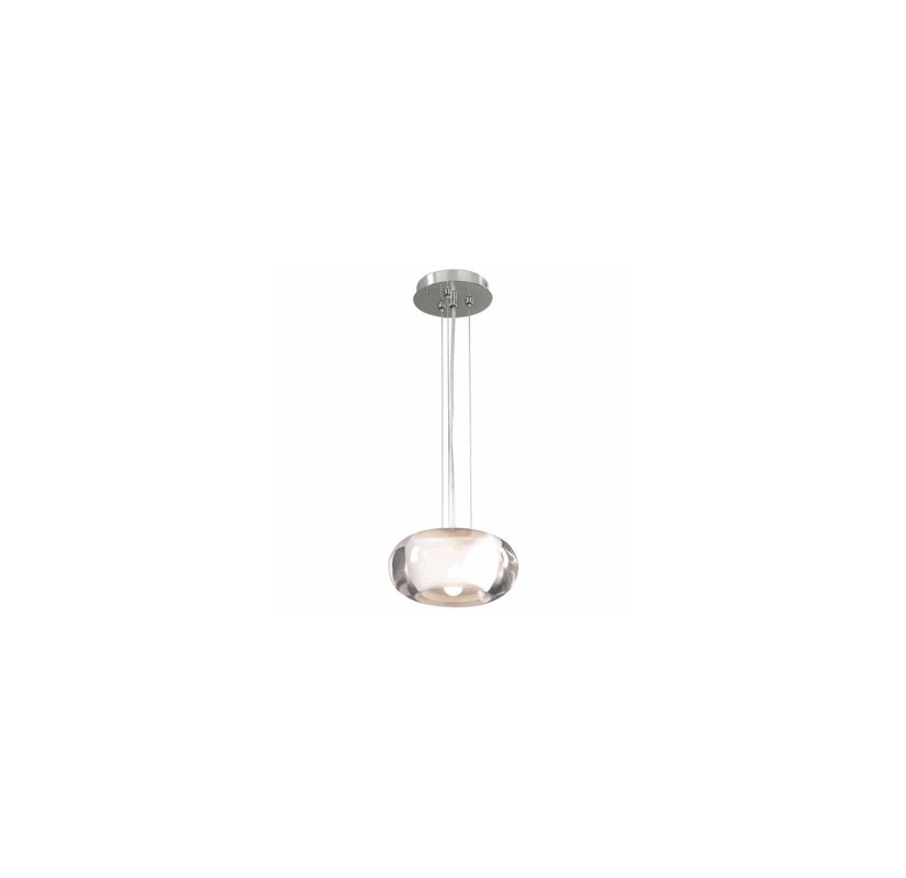 PLC Lighting 256 SN Satin Nickel Contemporary Castille Pendant