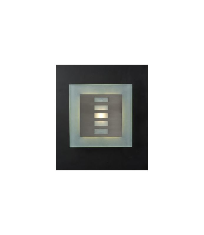 PLC Lighting 2312 SN Satin Nickel Contemporary Soho-II Wall Sconce