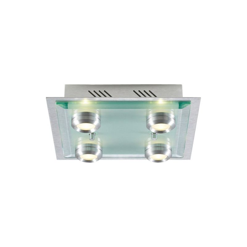 PLC Lighting 6133 AL Aluminum Contemporary Capri Ceiling Light