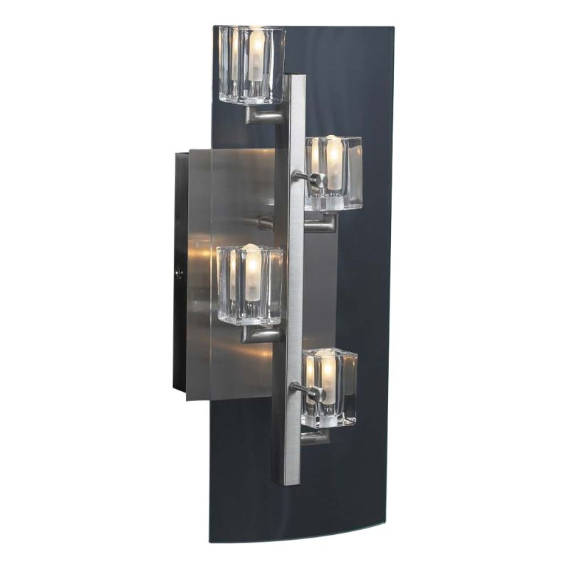 PLC Lighting 1532 SN Satin Nickel Contemporary Ice Cube Wall Sconce Sale $198.00 ITEM: bci361614 ID#:1532 SN :