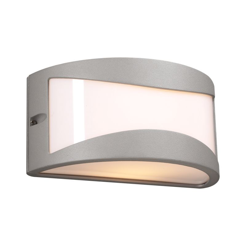 PLC Lighting 1727 SL Silver Contemporary Baco Wall Sconce