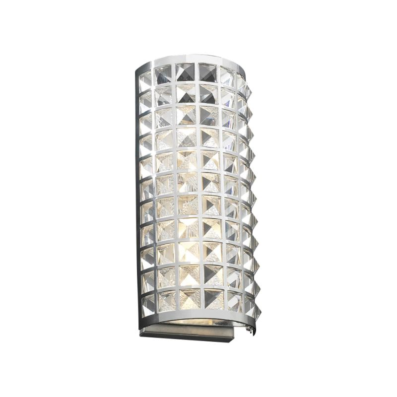 PLC Lighting 18185 PC Polished Chrome Contemporary Jewel Wall Sconce