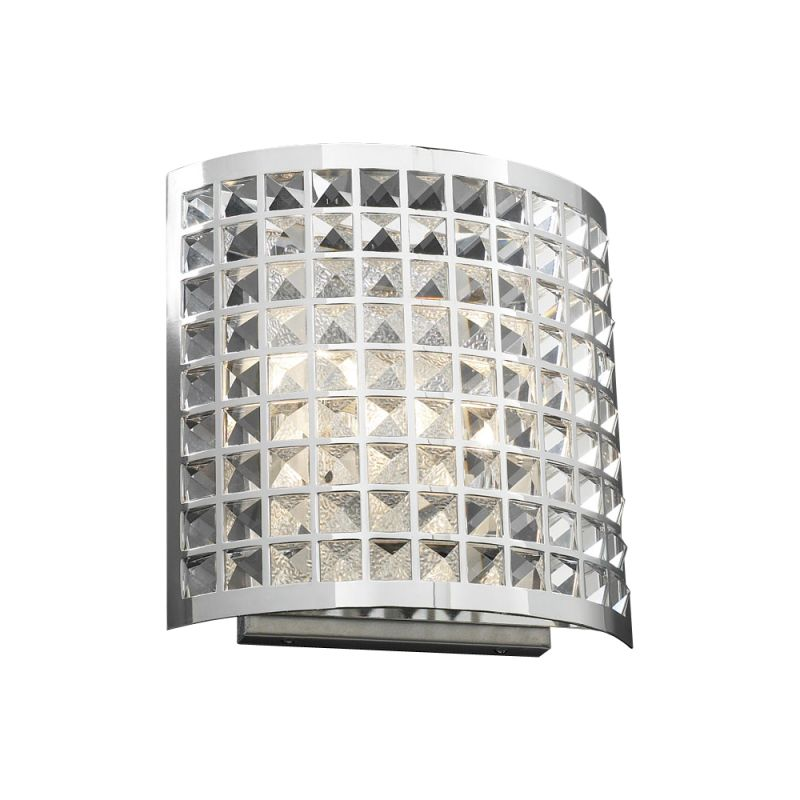 PLC Lighting 18186 PC Polished Chrome Contemporary Jewel Wall Sconce