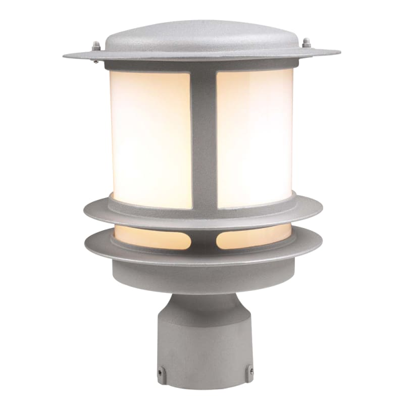 "PLC Lighting 1896113GU24 Tusk Single Light 12"" Tall Outdoor Post Light"