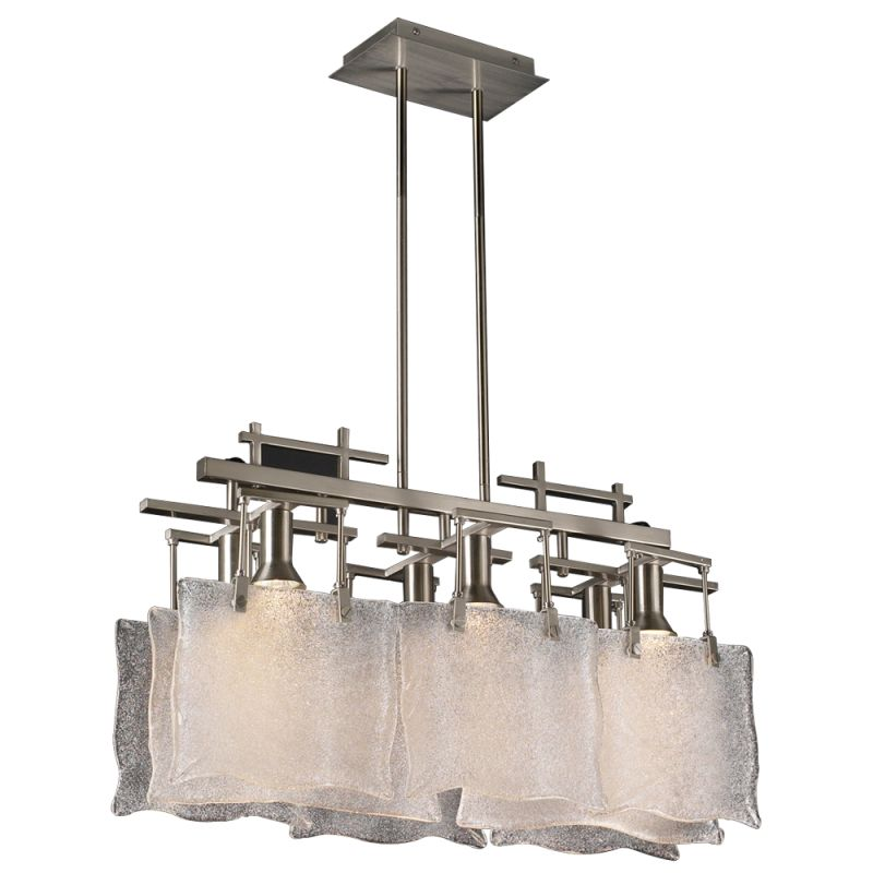 PLC Lighting 23035 SN Satin Nickel Contemporary Carilon Chandelier