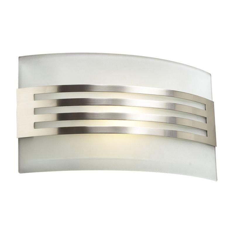 PLC Lighting 2320 SN Satin Nickel Contemporary Hundi Wall Sconce