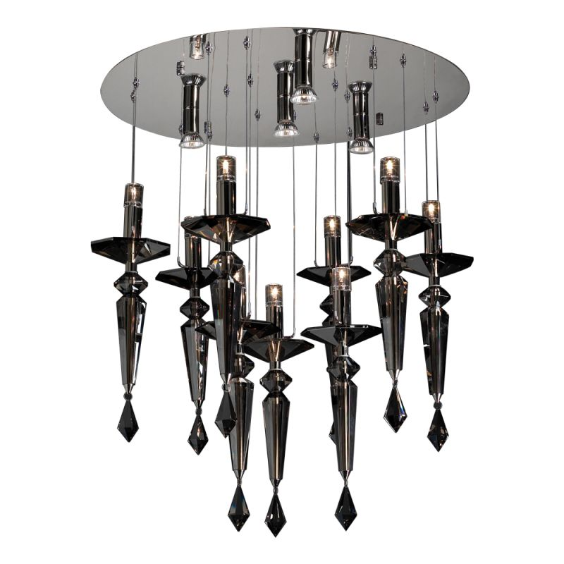 PLC Lighting 23666 PC Polished Chrome Contemporary Lamore Chandelier