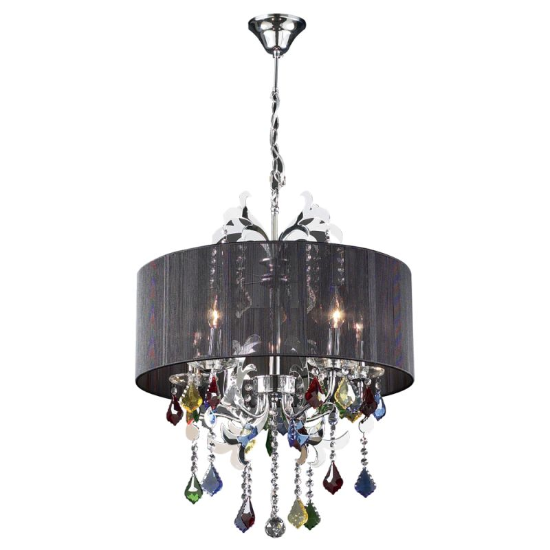 PLC Lighting 34112 PC Polished Chrome Contemporary Torcello Chandelier