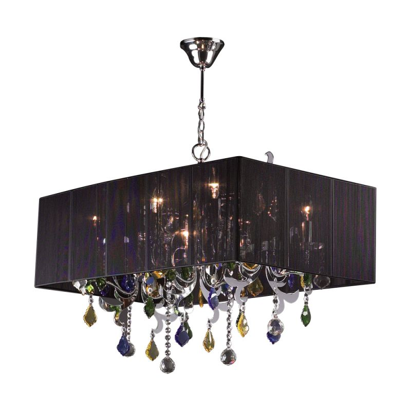 PLC Lighting 34118 PC Polished Chrome Contemporary Torcello Chandelier