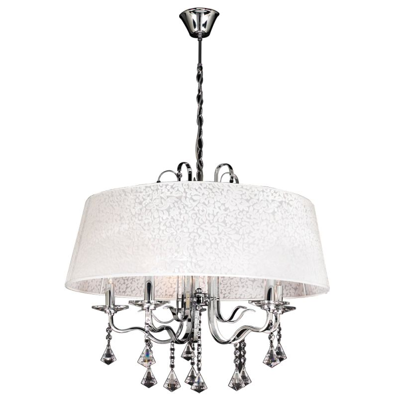 PLC Lighting 34128 PC Polished Chrome Contemporary Lily Chandelier