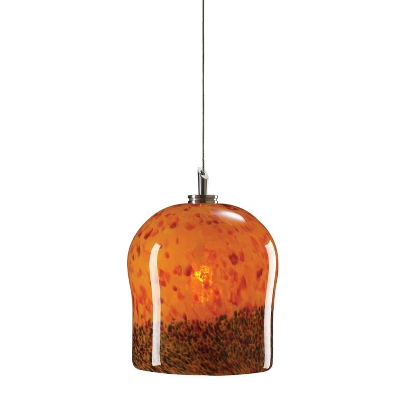 PLC Lighting 365 AMBER Confetti Amber Contemporary Fuzio Pendant