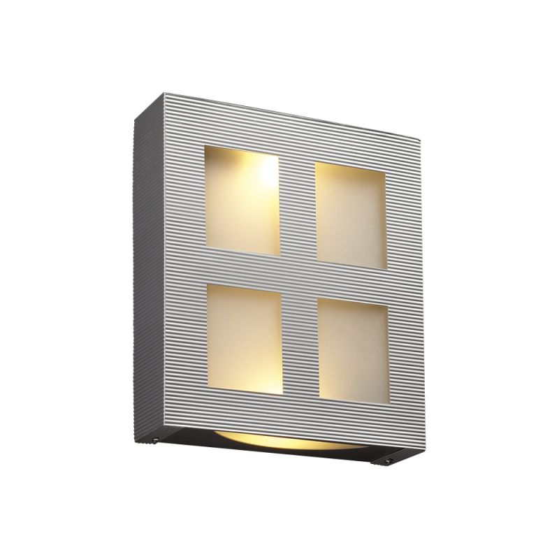 PLC Lighting 6416 AL Aluminum Contemporary Gayle Wall Sconce