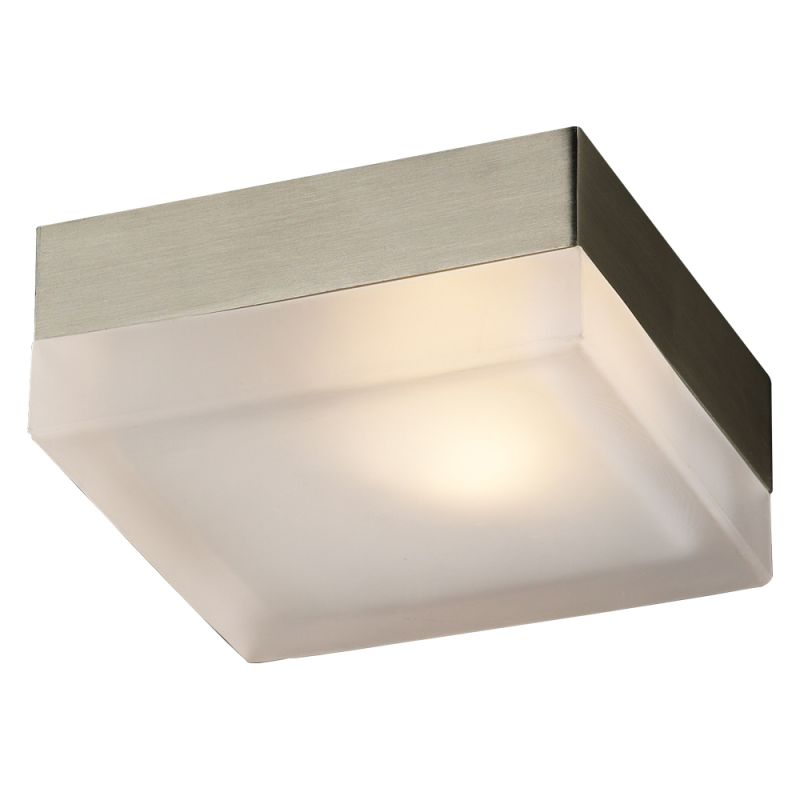 PLC Lighting 6573 SN Satin Nickel Contemporary Praha Ceiling Light