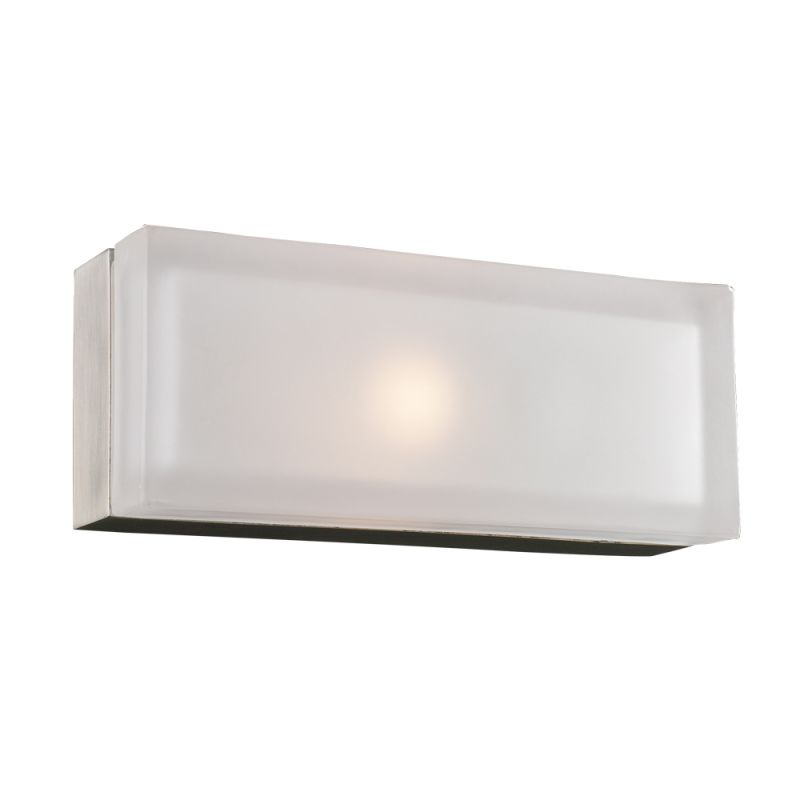 PLC Lighting 6577 SN Satin Nickel Contemporary Praha Wall Sconce