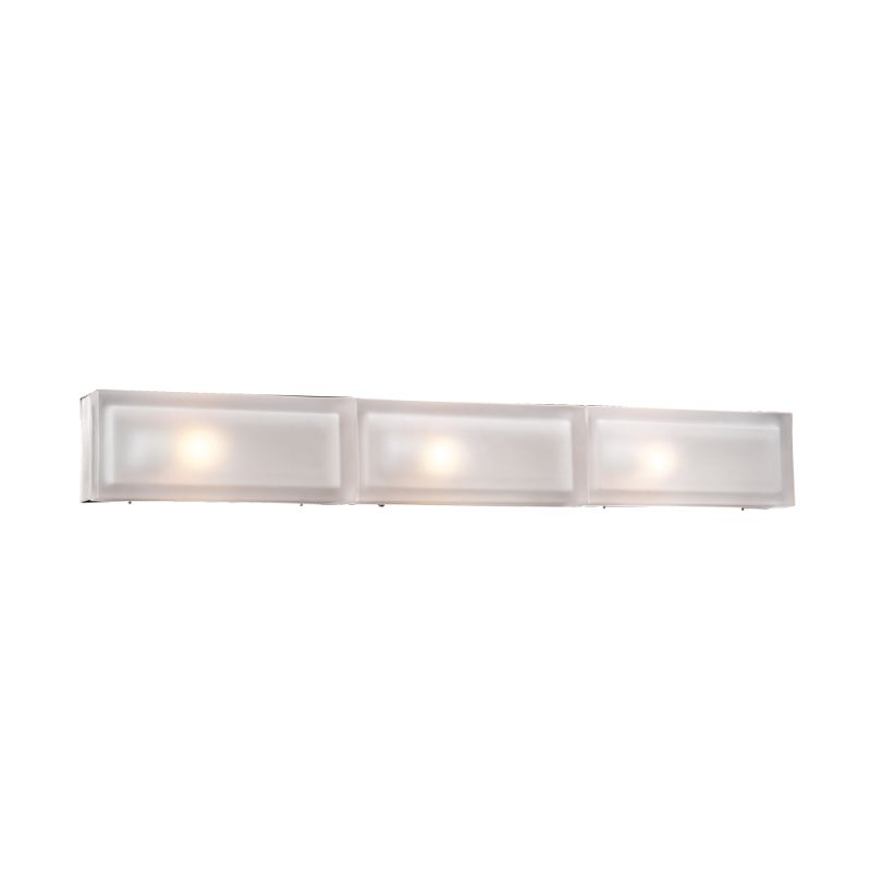 PLC Lighting 6579 SN Satin Nickel Contemporary Praha Bathroom Light