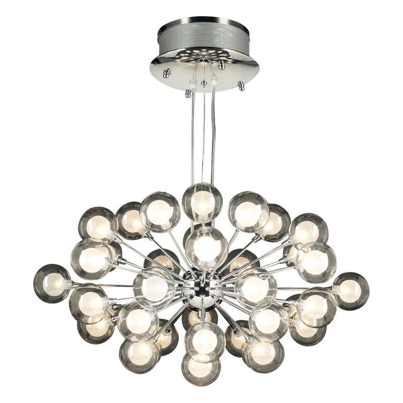 PLC Lighting 72108 PC Polished Chrome Contemporary Coupe Chandelier