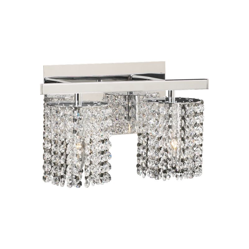 Plc Lighting 72192 Pc Polished Chrome Two Light Crystal Bathroom Vanity Light Fixture From The