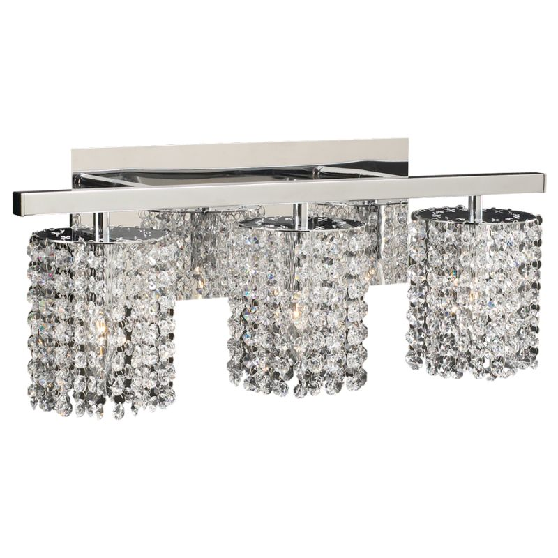 Plc Lighting 72194 Pc Polished Chrome Three Light Crystal Bathroom Vanity Light Fixture From The