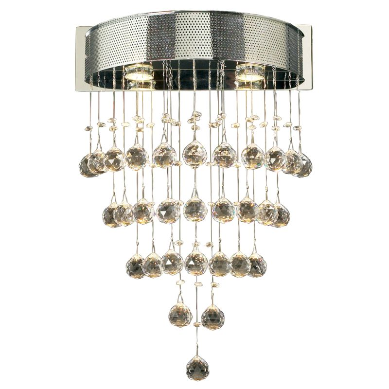 PLC Lighting 81730 PC Polished Chrome Contemporary Beverly Wall Sconce