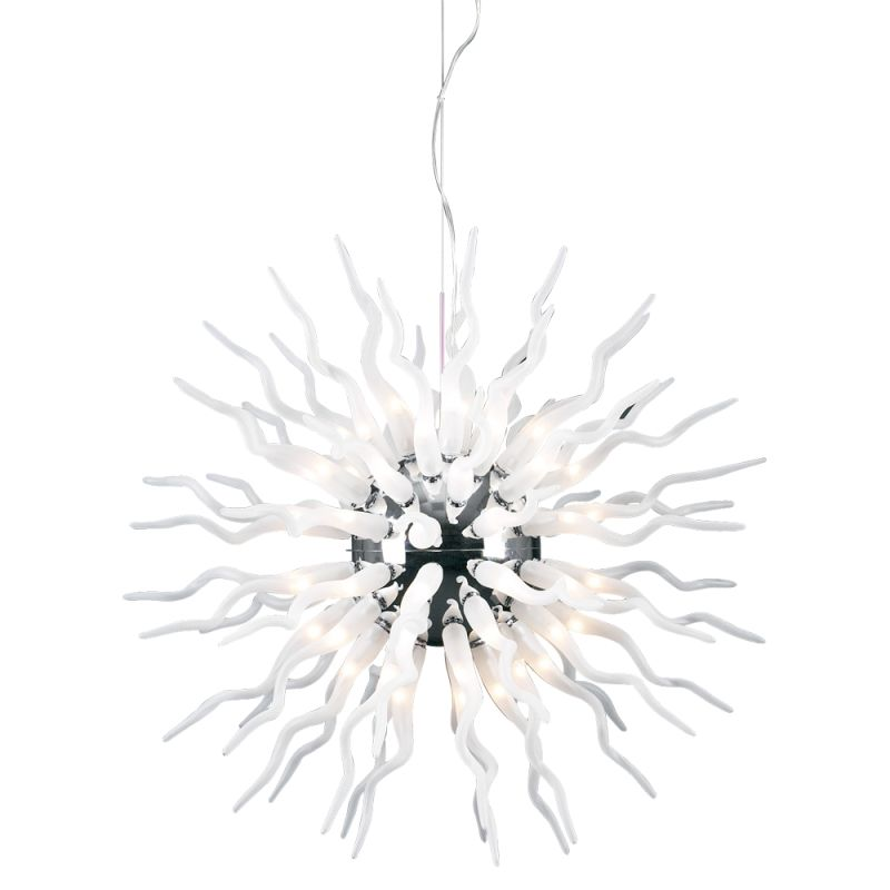 PLC Lighting 87778 PC Polished Chrome Contemporary Medusa Pendant