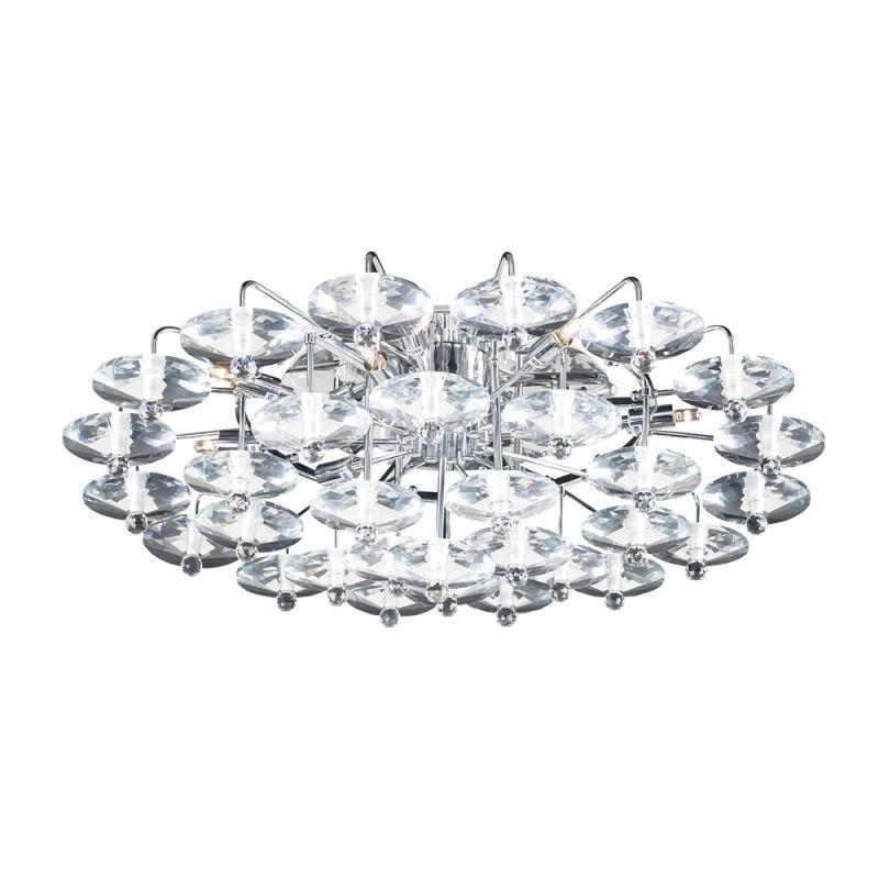 PLC Lighting 96981 Polished Chrome Contemporary Diamente Ceiling Light