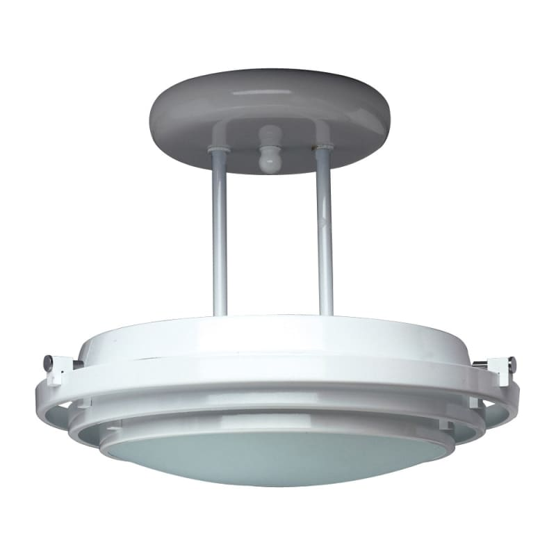 plc lighting 1614 bk black semi flush ceiling fixture from the cascade