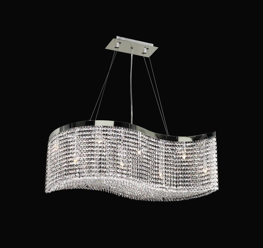 PLC Lighting 66010 CLEAR/PC Chrome Contemporary Clavius - I Chandelier
