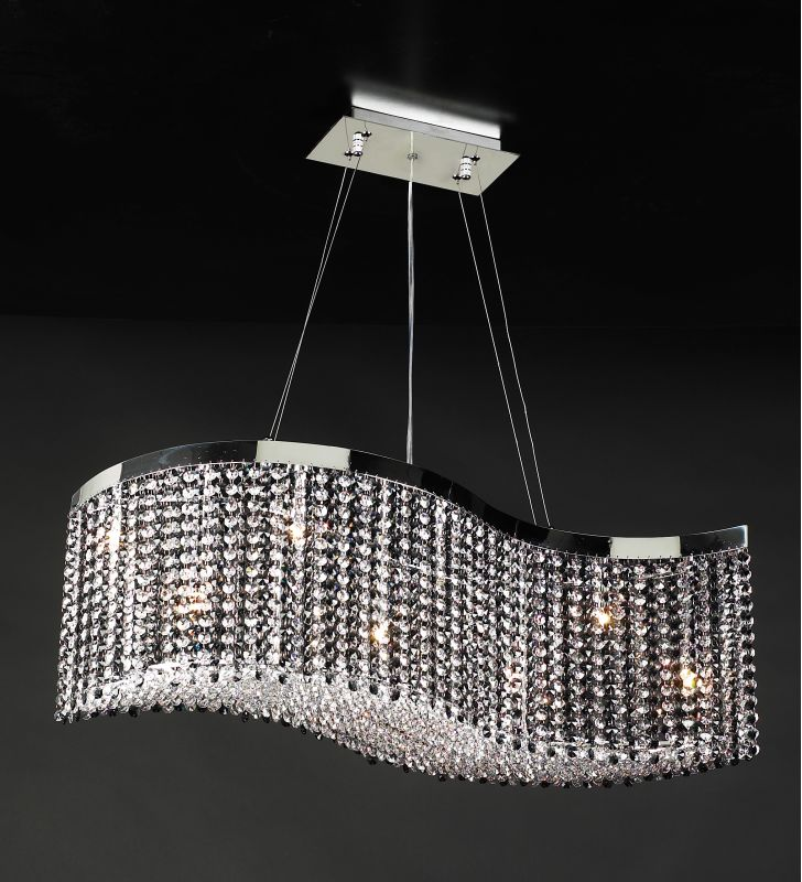 PLC Lighting 66020 BK/PC Chrome Contemporary Clavius - II Chandelier