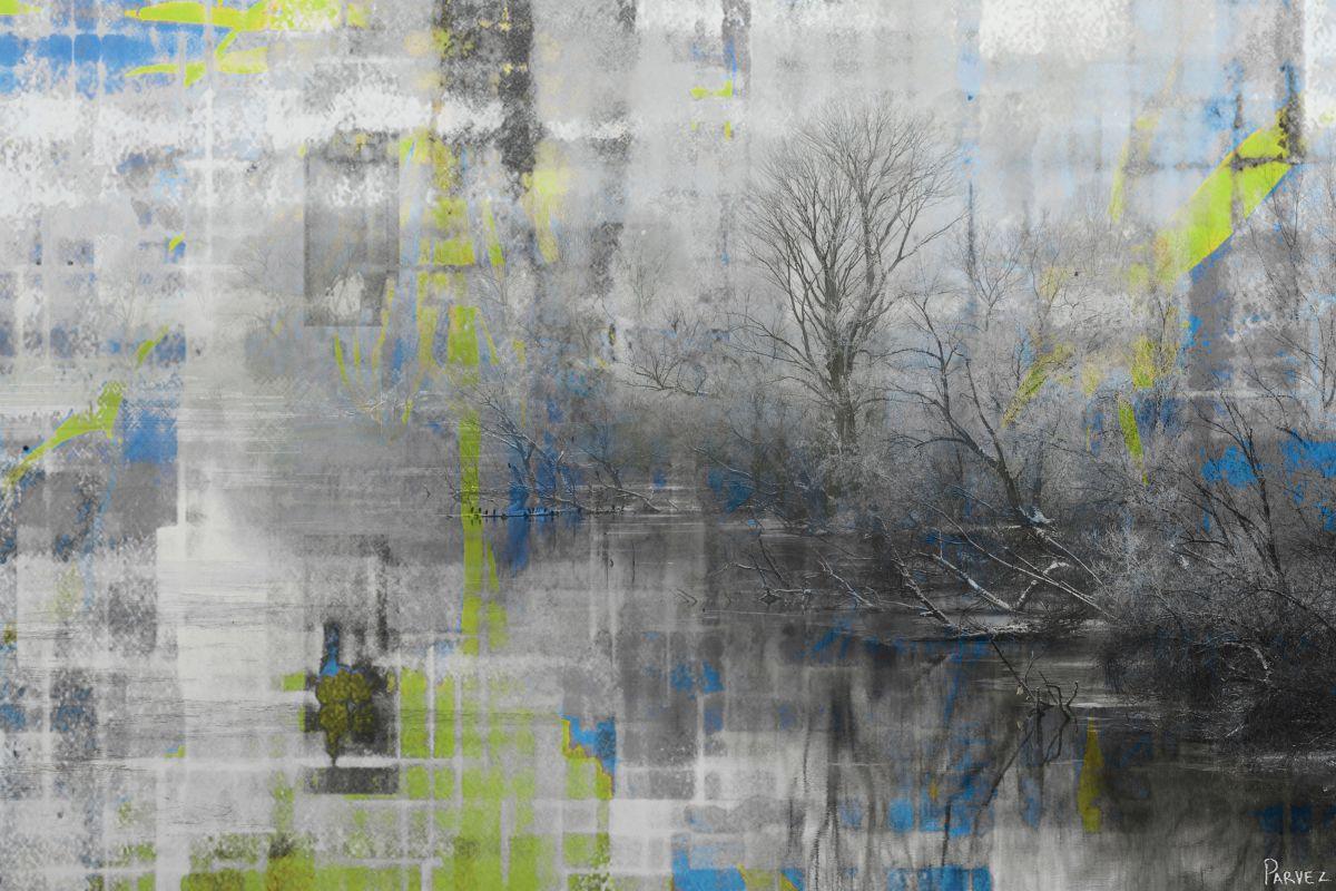 Parvez Taj Misty Lake Art Print on Premium Canvas 16 x 24 Home Decor Sale $91.92 ITEM: bci2682271 ID#:19-03-C-24 UPC: 700064364987 :