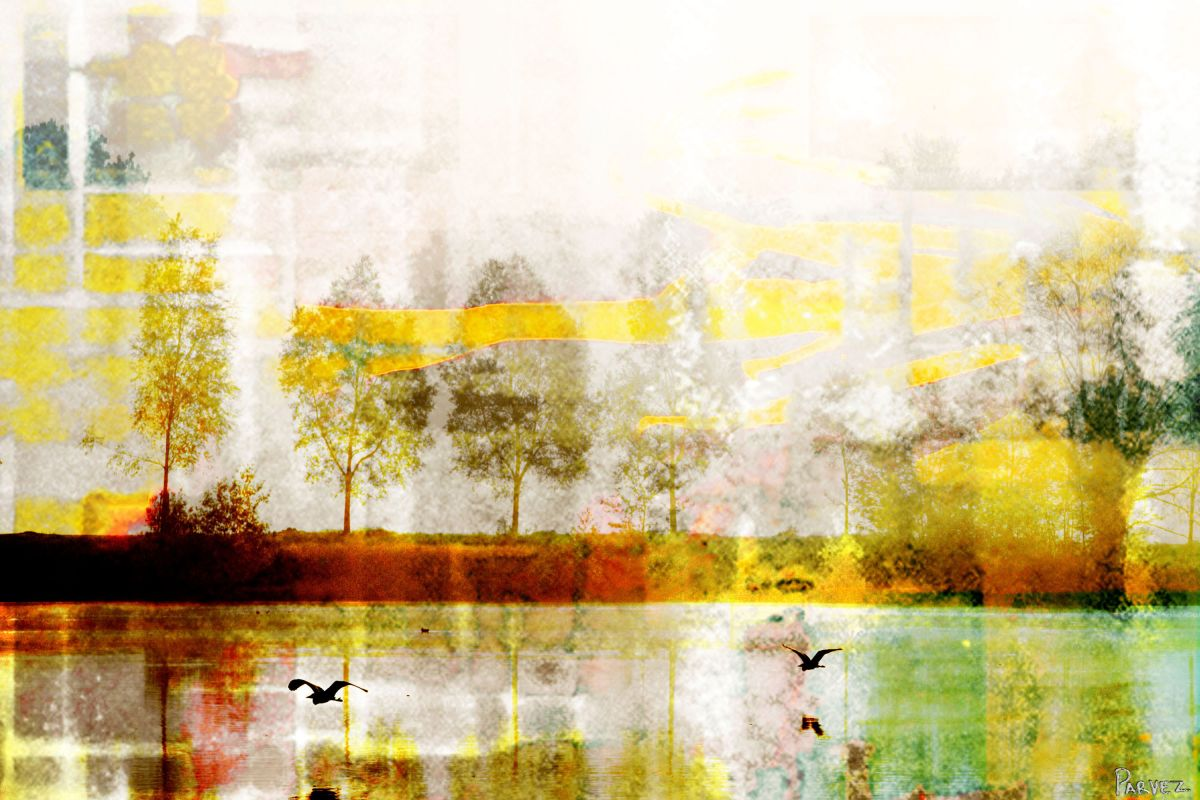 Parvez Taj Orr Lake Art Print on Premium Canvas 12 x 18 Home Decor