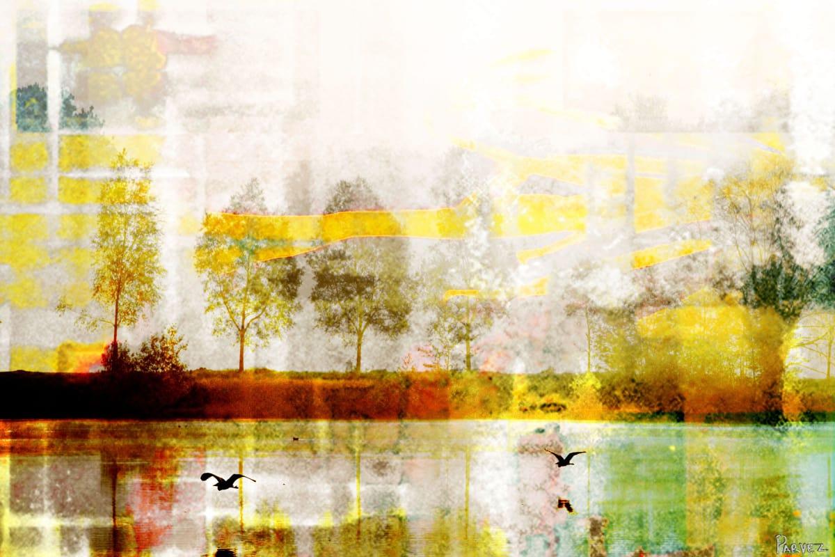 Parvez Taj Orr Lake Art Print on Premium Canvas 40 x 60 Home Decor