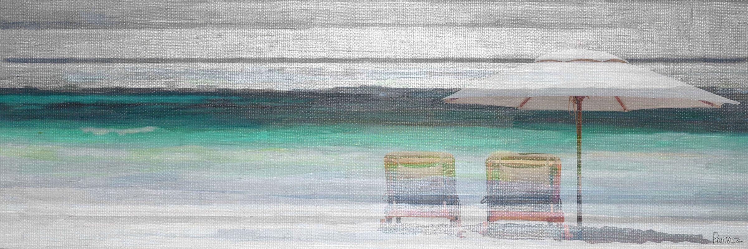 Parvez Taj By the Beach - on Canvas Art Print on Premium Canvas 20 x