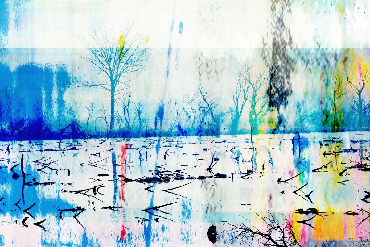 Parvez Taj Morrison Lake Art Print on Premium Canvas 24 x 36 Home