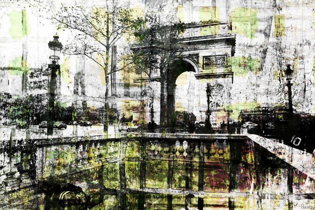 Parvez Taj Champs Elysees Art Print on Premium Canvas 30 x 45 Home
