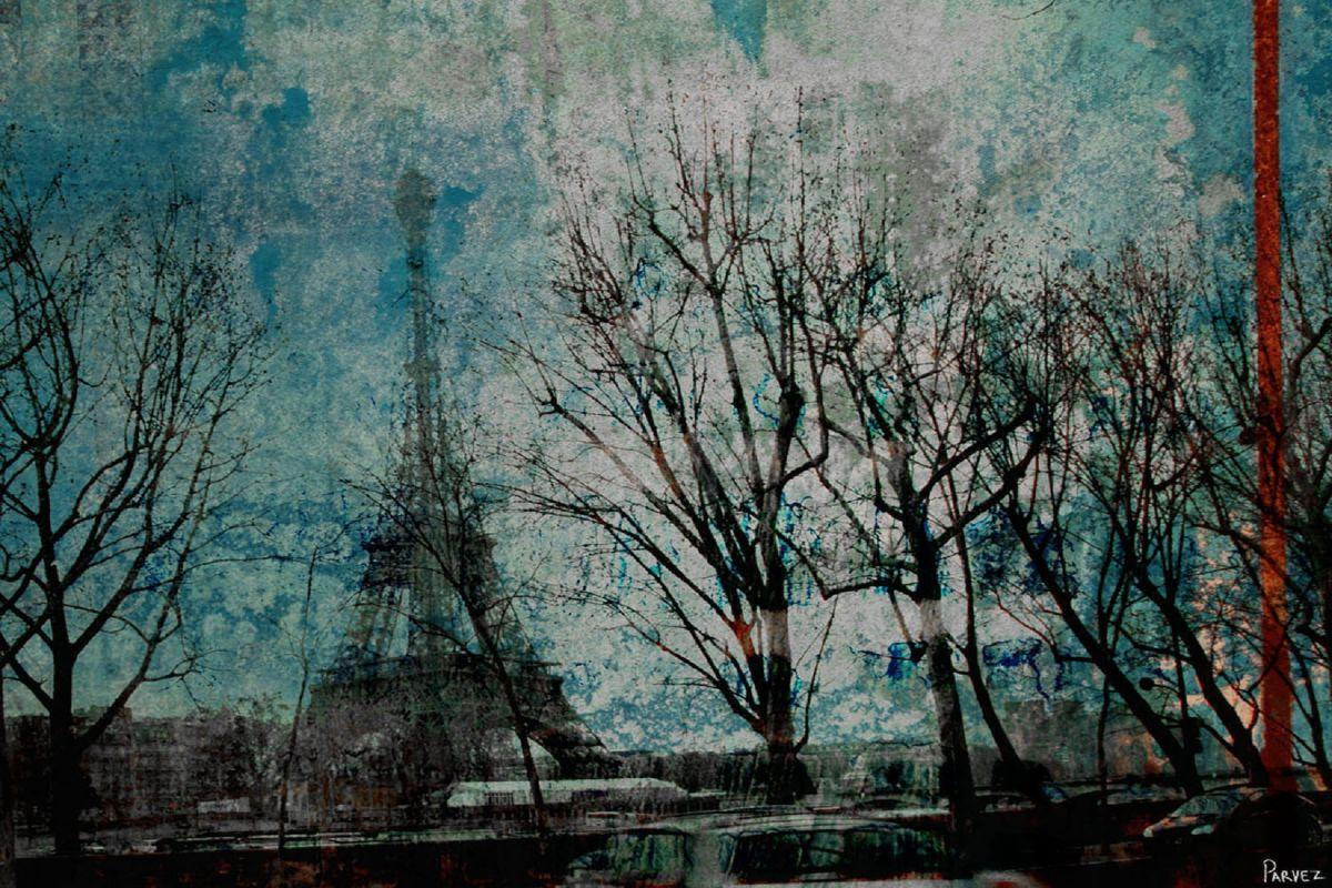 Parvez Taj La Tour Eiffel Art Print on Premium Canvas 12 x 18 Home