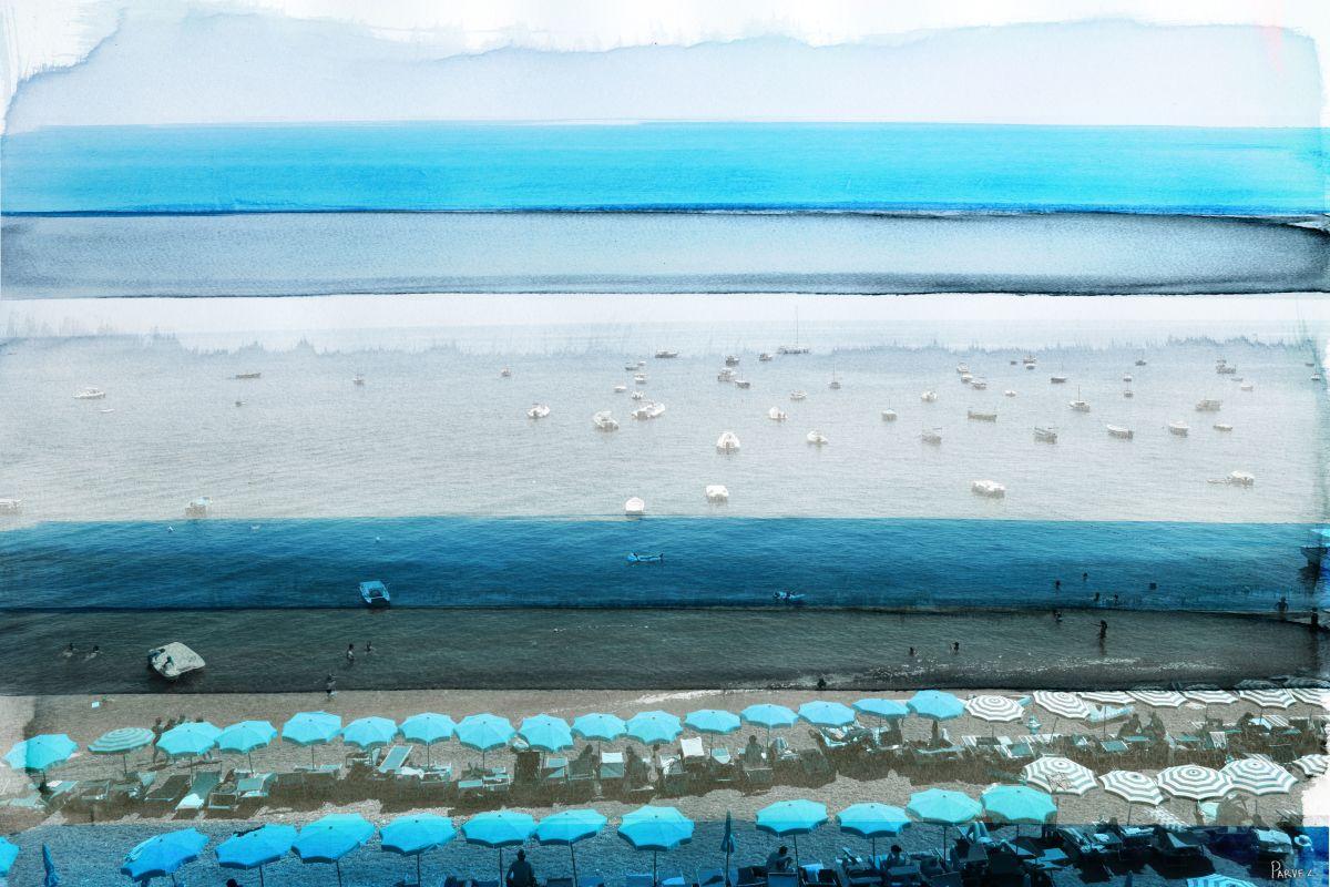 Parvez Taj Spiaggia Art Print on Premium Canvas 16 x 24 Home Decor