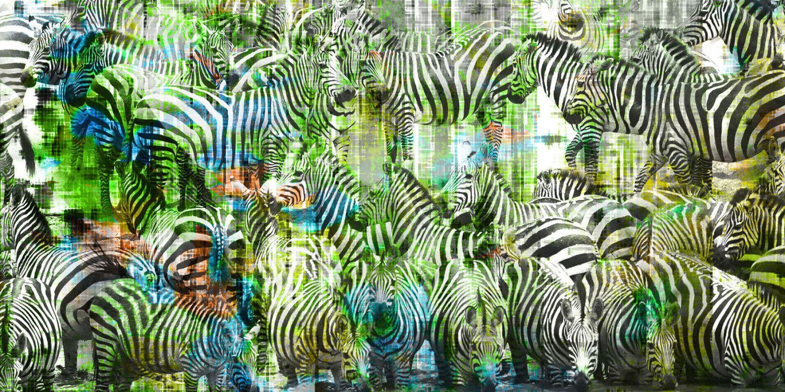 Parvez Taj Green Zebras Print on Canvas Art Print on Premium Canvas 30 Sale $238.08 ITEM: bci2770789 ID#:G41-71-C-60 UPC: 733520099697 :