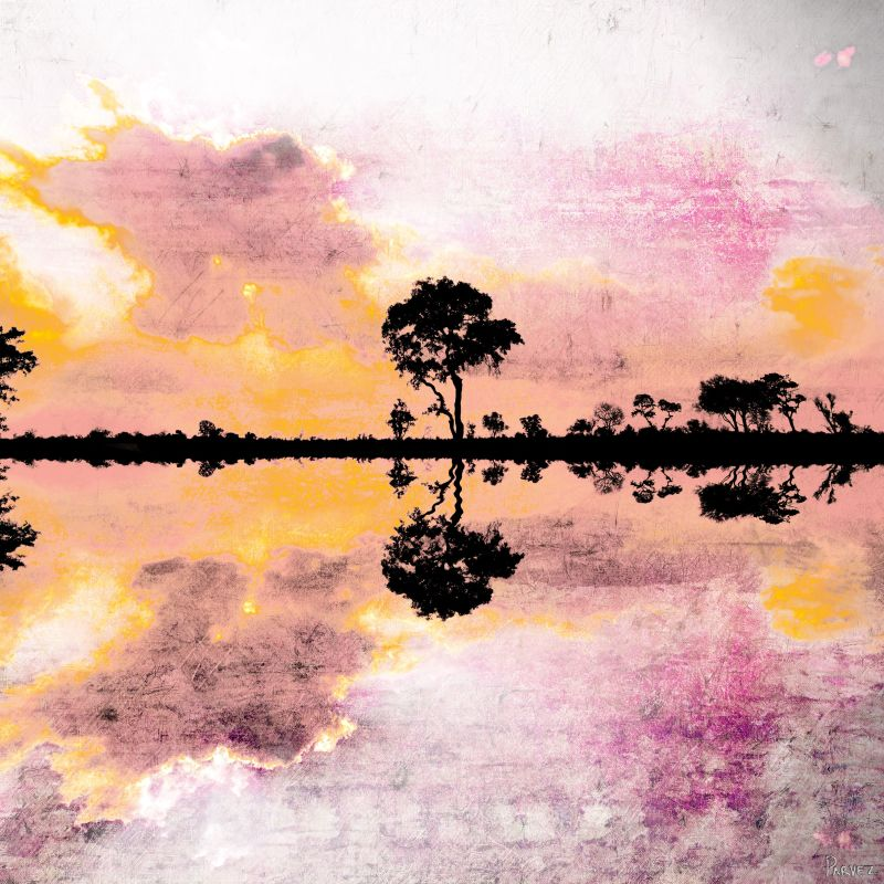 Parvez Taj Reflecting Pond Art Print on Premium Canvas 18 x 18 Home Sale $84.55 ITEM: bci2686450 ID#:G47-21-C-18 UPC: 700254855974 :