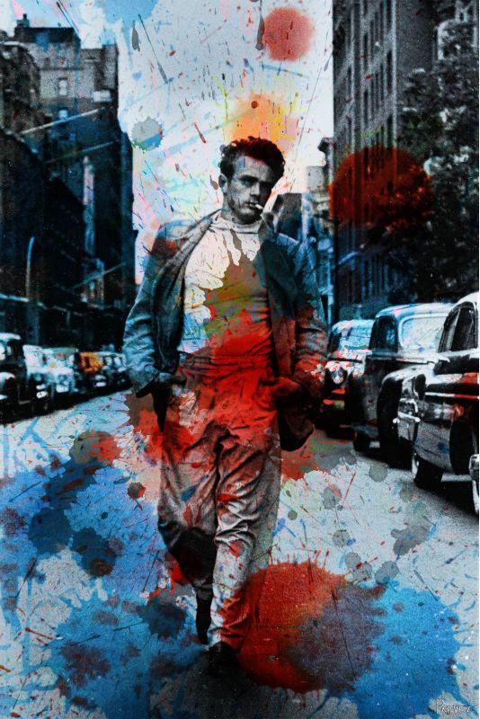 Parvez Taj James Dean NYC Art Print on Premium Canvas 24 x 16 Home Sale $91.92 ITEM: bci2686057 ID#:JD-S12-01-C-24 UPC: 700064364789 :
